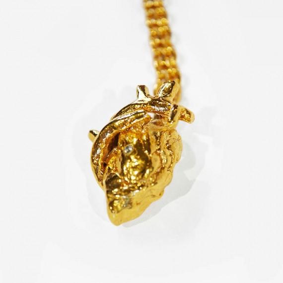 Fridas heart necklace_goldenbronze